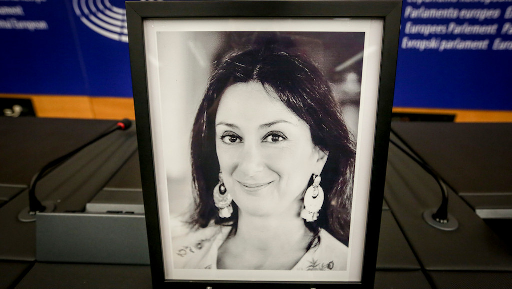 Ceremony for the naming of the press room Daphne CARUANA GALIZIA - A meggyilkolt máltai újságíróról elnevezett sajtóterem ceremóniája.